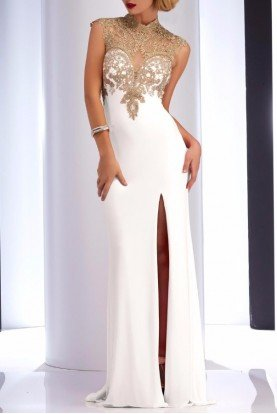 Ivory Lace Sweetheart Gown 2803 Dress White