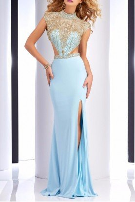 Ice Blue Cutout Gown 2725