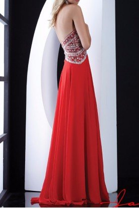 Crystal Glimmer Sweetheart Evening Dress 5416 Red