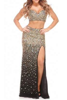 Jasz Couture Tantalizing Tend Two-Piece Evening Dress