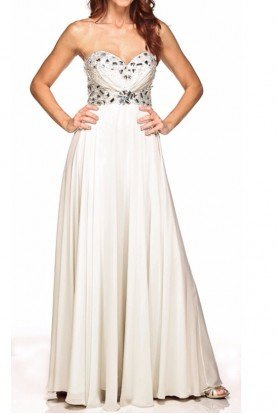White Sweetheart Gown Ornate Waist Embellishments