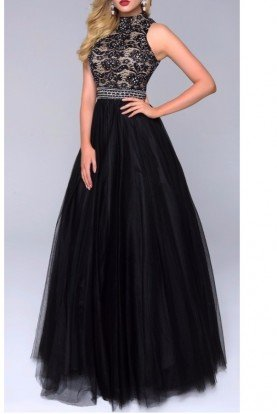 Enchanting Black Ball Gown Dress 1247