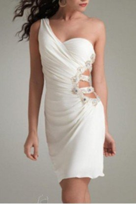 Jasz Couture Sultry White Mini dress 4453