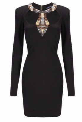 Twilight Annie Cutout Black Cocktail Dress