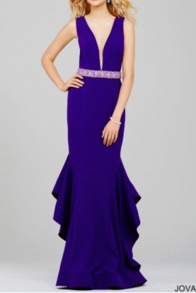 Jovani Purple Mermaid Evening Dress Gown 34087