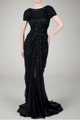 Black Sequin Gown Dress 6A1060L worn by Octavia Spencer