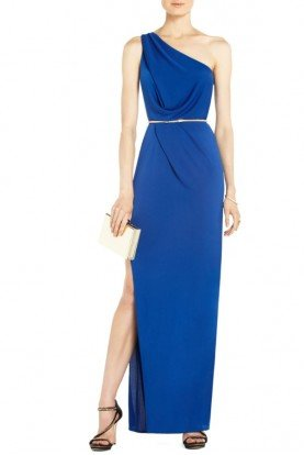 Snejana Blue One Shoulder Gown Dress