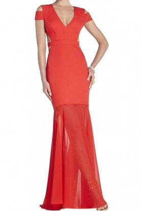 Red Cutout Ava Gown Evening Dress