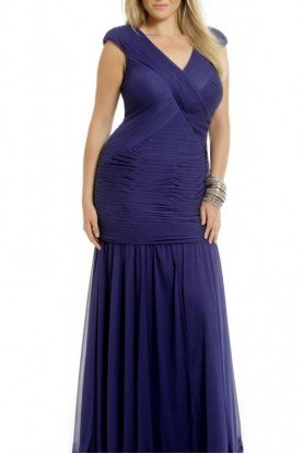 Adrianna Papell Blue Trumpet Gown Mother of Bride or  Black Tie