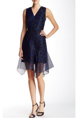 Elie Tahari Radiance Black Eloise Blue Dress