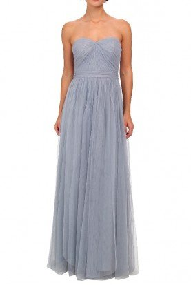 Bridesmaid Convertible Tulle Ball Gown Slate Blue