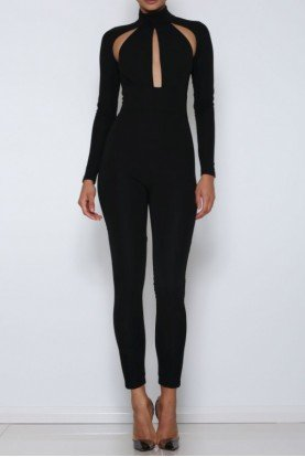 Ayanna Cutout Pantsuit in Black