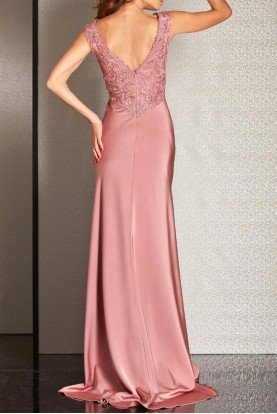 M6248 Modern Beauty Empire Gown Blush Pink Dress