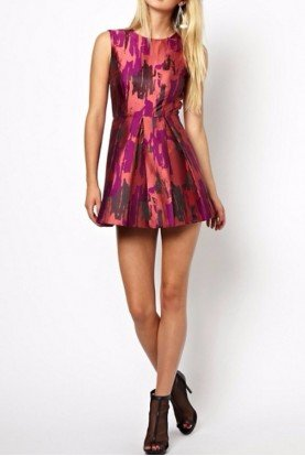 AQ AQ Uropa Backless Skater Dress In Jacquard