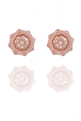 Sandugash Gallo DINA  Rose Gold Stud Earrings