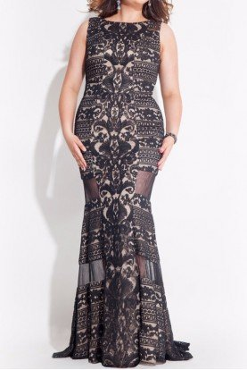 Plus Collection 7416 Lace Gown Evening Dress