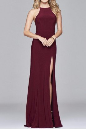 7976 Svelte Evening Gown Dress in Burgundy