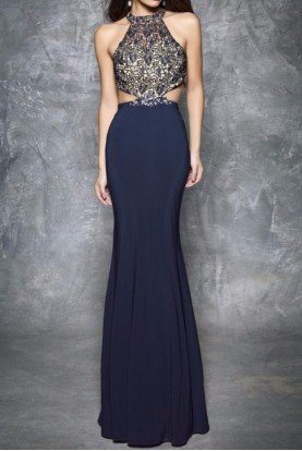 1304 Lace Fantasy Hourglass Evening Gown Dress