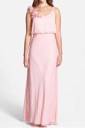 Bridesmaid Chiffon Gown Blush