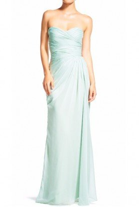 Ruched Mint Gown Bridesmaid chiffon Sweetheart