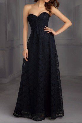 702 Black Lace Ball Gown Dress