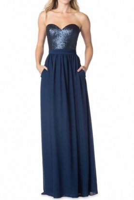 1630 Bari Jay Shimmer Navy Blue Sequin Dress