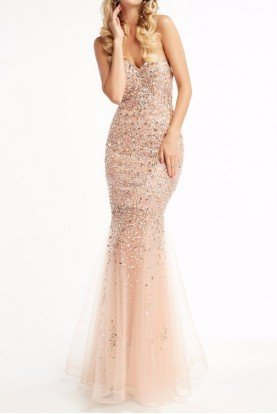 BLACK 5996 Sheer Sensation Sweetheart Evening Gown