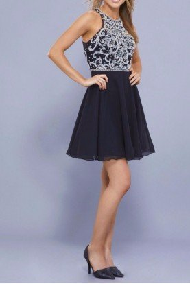 6329 Starlight Chiffon Party Dress
