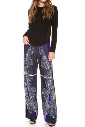 Clover Canyon Russian Enamel Wide Leg Pants