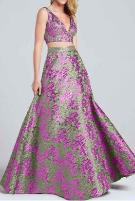 Sleeveless Two Piece A Line Ball Gown EW117039
