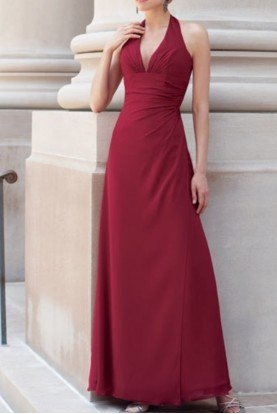 BY1974 Halter Deep V Special Occasion Dress Gown