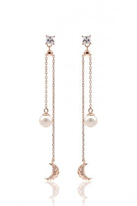 Sandugash Gallo EVGENIYA Rose Gold Plated With Fresh Water Pearl