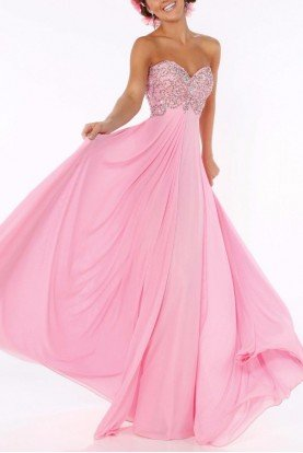 Sherri Hill Embellished Pink Ball Gown Dress