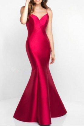 Open Back Mikado Red Evening Gown Prom Dress C1050