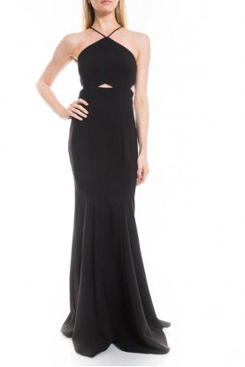 Black Harper Cutout Evening Gown Prom dress