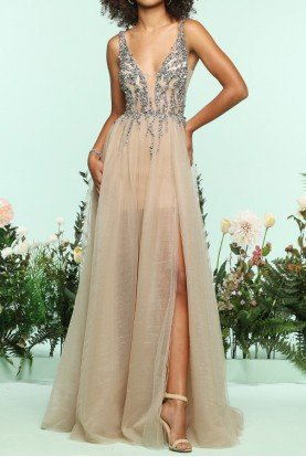 Beaded Emma Tulle Ball Gown Prom Dress 31120