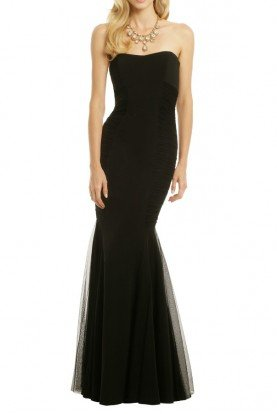 Black Strapless Curves for Days Gown
