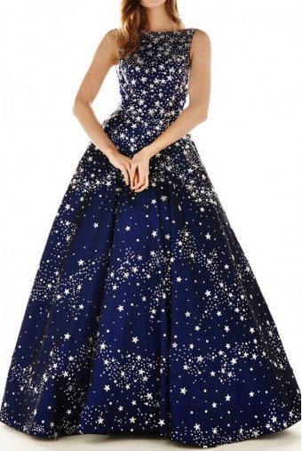 Angela and Alison Navy Sparkly Embellished A Line Ball Gown 71054