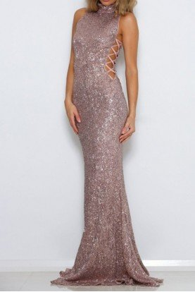 Abyss by Abby Rose Gold Gown Prom Dress ABYSS BY ABBY