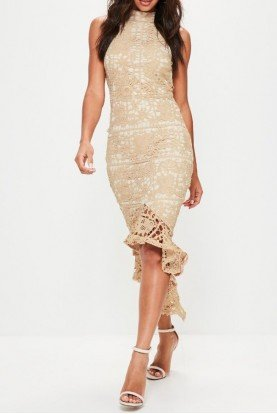 High Low Lace Fishtail Cocktail Summer Dress