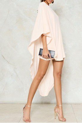 Superwoman Blush Pink One Shoulder Dress