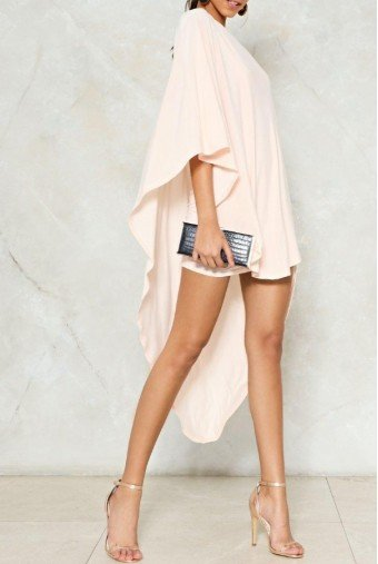 Nasty Gal Superwoman Blush Pink One Shoulder Dress