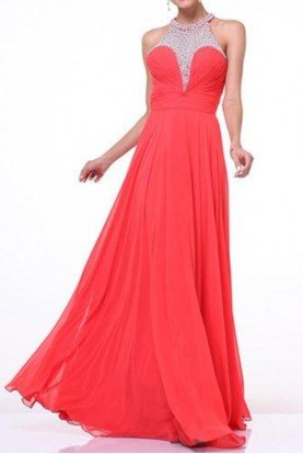 CORAL CAYENNE OPEN BACK EMPIRE GOWN DRESS