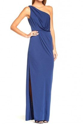 Senejana Blue One Shoulder Gown