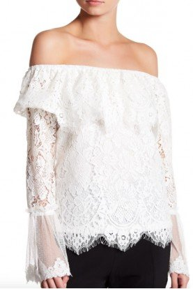 Why Dress Gorgeous Lace Off the Shoulder Blouse Top Shirt