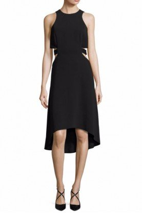 Black High Low Cut Out Cocktail Dress