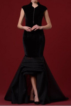 Black Velvet Mermaid Gown