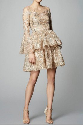 Long Bell Sleeve Party Dress