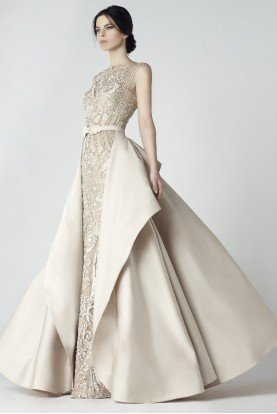 Sleeveless Fitted Couture Ball Gown