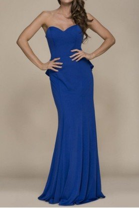 Nox Anabel Royal Blue Sweetheart Gown Open Back Evening Dress